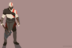 Kratos God Of War Minimalist Wallpaper