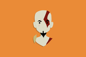 Kratos God Of War Minimalist 4k Wallpaper
