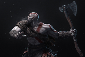 Kratos Hitting With Axe 4k Wallpaper