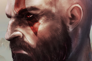 Kratos In God Of War Art Wallpaper
