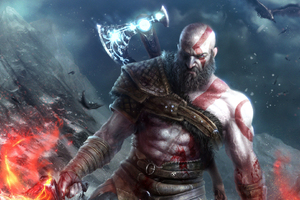 Kratos In God Of War Wallpaper