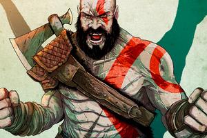Kratos In God Of War New Art