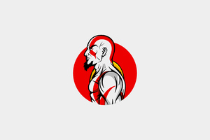 Kratos Minimal Art 4k Wallpaper