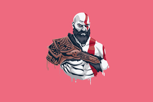 Kratos Minimalism 4k Wallpaper