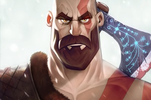 Kratos New Art Wallpaper