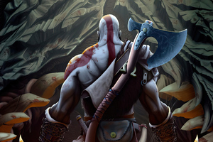 Kratos New Artwork Wallpaper