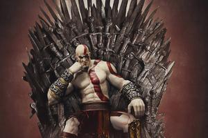 Kratos On Thrones