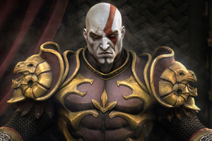 Kratos Throne God Of War
