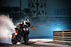 KTM 1290 Super Duke Drifting Wallpaper