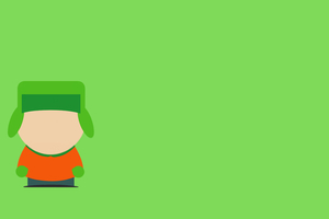 Kyle Broflovski South Park Minimalism 8k Wallpaper