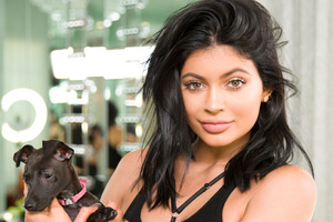 Kylie Jenner With Dog