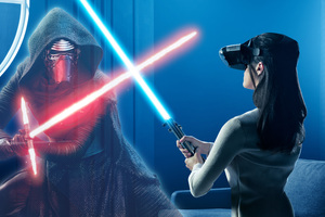 Kylo Ren And Rey In Star Wars The Last Jedi VR Experience Wallpaper