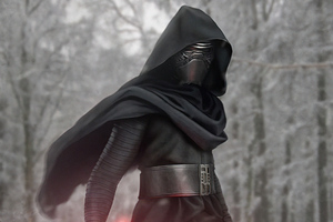 Kylo Ren In The Woods 4k Wallpaper