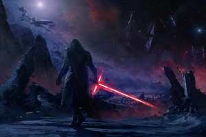 Kylo Ren Star Wars Art