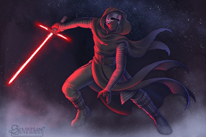 Kylo Ren Star Wars The Last Jedi Artwork