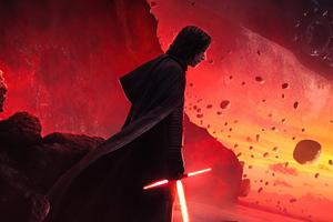 Kyloren Star Wars Lightsaber Wallpaper
