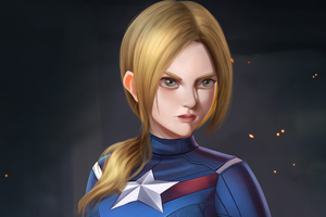 Lady Captain America 4k Wallpaper