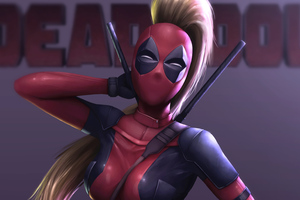 Lady Deadpool 4k