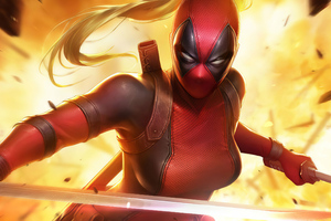 Lady Deadpool Artwork Wallpaper