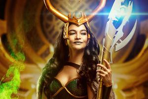 Lady Loki Cosplay 4k Wallpaper