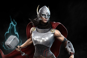 Lady Thor 4k Wallpaper