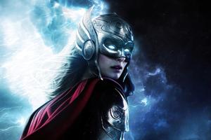 Lady Thor 8k Wallpaper