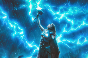 Lady Thor God Of Thunder Wallpaper