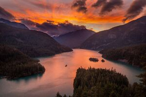 Lake Diablo At Sunset 5k Wallpaper