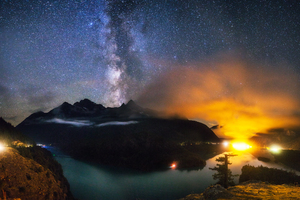 Lake Diablo Milky Way Wallpaper