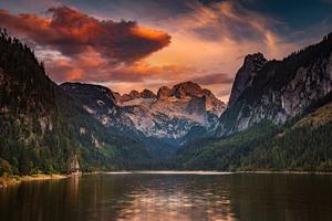 Lake Gosau In The Austrian Alps 4k Wallpaper