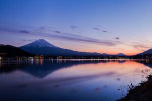 Lake Kawaguchi In Japan Wallpaper
