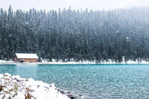 Lake Louise Canada Banff Landscape Alberta Rocky 5k Wallpaper