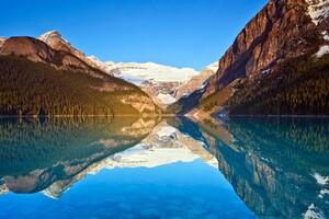 Lake Louise Reflections Wallpaper