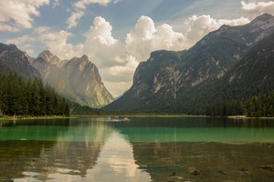 Lake Mountains Water Reflection Landscape Wallpaper