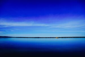 Lake Under Blue Sky Wallpaper