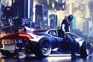 Lambo Cyber Ride 4k Wallpaper