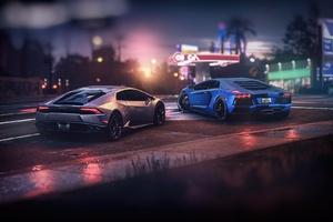 Lamborghini Aventador And Huracan GTA Online The Outrun Overdrive DLC