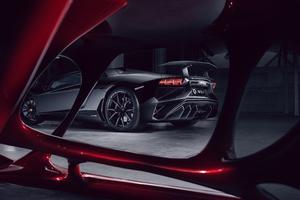 Lamborghini Aventador Black Red Wolf 4k