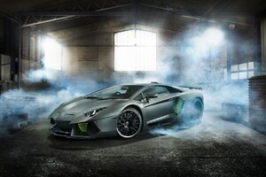 Lamborghini Aventador Desktop HD Wallpaper