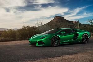 Lamborghini Aventador Green 4k