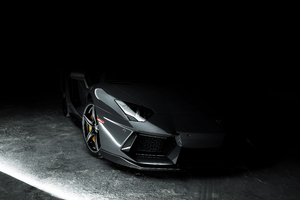 Lamborghini Aventador Grey 4k Wallpaper