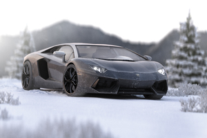 Lamborghini Aventador In Ice 5k