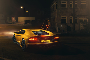 Lamborghini Aventador In The Night
