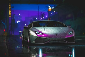Lamborghini Aventador Reflection Art 4k