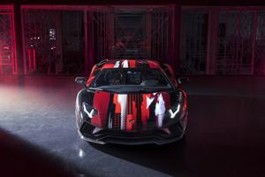Lamborghini Aventador S By Yohji Yamamoto Front View 10k Wallpaper