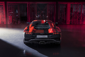 Lamborghini Aventador S By Yohji Yamamoto Rear View 10k Wallpaper