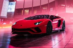 Lamborghini Aventador S Roadster 2019 4k