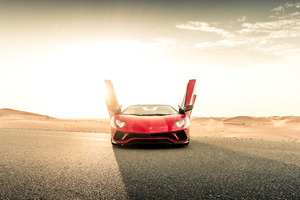 Lamborghini Aventador S Roadster 2020 Doors Open Wallpaper