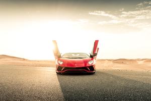 Lamborghini Aventador S Roadster 2020 Doors Open