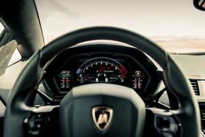 Lamborghini Aventador S Roadster 2020 Hud Wallpaper